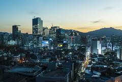 off to (matteroffactSH) Tags: seoul korea south southkorea asia skyscrapers architecture gangnam district cityscape vista cold freezing winter blue hour bluehour nikon d800 d800e andrew rochfort andrewrochfort matteroffact light neon alley buildings sk