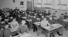 Class Photo (theirhistory) Tags: boys children kids school france desks class jacket shirt shoes wellies jumper wellingtons form pupils students education