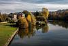 L'automne sur la Seine (Lucille-bs) Tags: europe france iledefrance yvelines bougival automne paysage seine fleuve arbre maison
