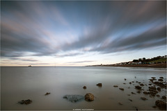 - - - \ \ I I / / - - (Kevin HARWIN) Tags: long exposure water sea wet stones rocks pier sky clouds moveing beach sand canon eos m3 1020mm lens hampton kent south east uk england britain blue