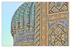Samarqand UZ - Registan Sher-Dor-Madrasa 07 (Daniel Mennerich) Tags: silk road uzbekistan registan samarqand history architecture hdr