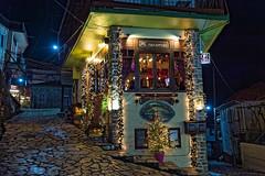 """Paramythi"" (a fairy tale) cafe, Evrytania, Greece (George Fournaris) Tags: night nightshot christmasdecoration nikon df nightview megalochorio"