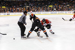 """Kansas City Mavericks vs. Cincinnati Cyclones, February 3, 2018, Silverstein Eye Centers Arena, Independence, Missouri.  Photo: © John Howe / Howe Creative Photography, all rights reserved 2018. • <a style=""""font-size:0.8em;"""" href=""""http://www.flickr.com/photos/134016632@N02/39220095225/"""" target=""""_blank"""">View on Flickr</a>"""