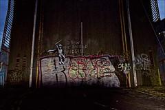 Banksy Scoot Street Bridge (brianarchie65) Tags: banksy art bridge scottstreetbridge kingstonuponhull cityofculture canoneos600d graffiti graffitiart geotagged brianarchie65 unlimitedphotos
