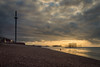 Brighton Beach, Sunday morning (Emma Varley) Tags: brighton westpier palacepier beach i360 sunrise moody walkers dogs clouds sea shingle morning sunday light reflections lowtide