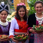Thai People in Traditional Dress Waiting to Join the Chiang Mai Flower Festival Parade 172 thumbnail