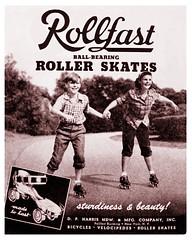 Rollfast Roller Skates -- 1948 (JFGryphon) Tags: rollfastrollerskates rollerskates 1948 advertisement ballbearingrollerskates dpharriscompany rollfast dpharrishardwareandmanufacturingcompany