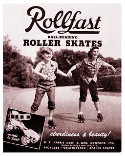 Rollfast Roller Skates -- 1948