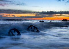 The Wheels (peterwilson71) Tags: sunrise wheels seascape skys clouds sea ocean seaham northeast canon6d beautiful flow industrial longexposure outdoors rocks seashore stone travel water