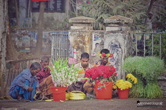 Street Flower-Sellers (Sagor's) Tags: nikon dslr 5300 bd bangladesh dhaka street streetphotography streets streetphoto people flowers selling seller sellers nikkor color colours life colour colourful