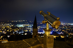 Schlossblick (Anselm Wagner) Tags: cityscape nightsky citylights wideangle marburg street lights streetlights 14 mm longexposure