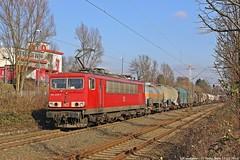 DB 155 239 am 17.02.2016 mit einem gemischtem Güterzug in Herten-Mitte (Eisenbahner101) Tags: