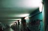 Moody Tunnel (Foto di Chris) Tags: tunnel lights urban graffity fluorescent lowlight shadows minolta rokkor film cinestill