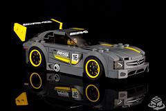 75877 LEGO Speed Champions Mercedes-AMG GT3 (front) (bricks360) Tags: lego лего 레고 75877 speed champions mercedes benz mercedesamg gt3 amg legoland bricks360 brick 360 toyphotography legophotography legography toy