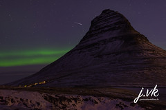 Mt. Kirkjufell Aurora (jornvk) Tags: winter iceland kirkjufell aurora view stars mountain northernlights snow cold sky auroraborealis fallingstar silhouette