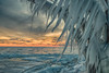 Sunset on ice #4 (tquist24) Tags: hdr lakemichigan michigan nikon nikond5300 stjoseph clouds cold evening frozen geotagged ice icicles lake pier sky sunset water winter saintjoseph unitedstates