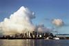 Rising (0zufan) Tags: sydney city sunrise cloud landscape contax g1 film analog 45mmf2 planar zeiss pro400h