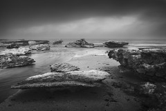 Iceberg Beach No.2 (Thomas Pohlig) Tags: ice snow frozen bay ocean beach sand water capemay newjersey jersey jerseyshore blackandwhite bw monochrome mono fineart winter