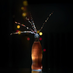 Coke & Light... (Antonio Iacobelli (Jacobson-2012)) Tags: cocacola coke led tungsteno bottiglia palline polistirolo bari nikon d850 nikkor 80200mm
