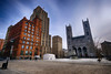 Place d'Armes in Montreal, Canada (` Toshio ') Tags: toshio montreal canada quebec notredamebasilica basilica church placedarmes square downtown oldtown city fujixt2 xt2 canadian oldmontreal