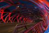 FLUX LIGHTING / Tubular Twilight, Pont Hans Wilsdorf, Geneva (Switzerland) (FLUX-LIGHTING) Tags: bridge red blue floodlight led luminaire architecture
