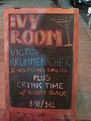 Ivy Room sign board (michaelz1) Tags: livemusic ivyroom albany