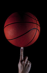 Basket Ball and hand (Ncor: Photography) Tags: basketball ball hand player object sphere sports orange black one baller sportsman fit adult athlete leisure action man exercise athletic game team male person circle closeup basket arm caucasian finger sport nba palm seam equipment competition spot single shape trick power play people background dark curve shadow spinning