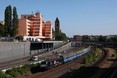 PKP ES 64 F4 - 151 + ledig mat trein D444 Kiev Pass - Berlin Gesundbrunnen  - Berlin Messe Nord - ICC (Rene_Potsdam) Tags: pkp br189 es64f4 berlin messe nord railroad