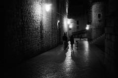 Night Walk (Koprek) Tags: leicam2summaron35mm2 kodaktrix 1600 film croatia nocturno dubrovnik december 2017 wind cold rain