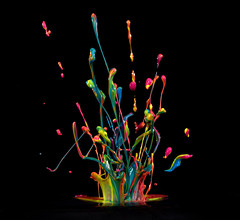 **Best viewed large** (BMADHudson) Tags: paint splash music colorful rainbow nikon d810 nikond810 105mm black inside project class acrylic bmadhudson