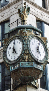 Chicago Illinois  - Jeweler's Building  - Father Time Clock - 35 East Wacker
