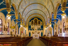 St Joseph's Church Interior (Eridony (Instagram: eridony_prime)) Tags: lakelinden schoolcrafttownship houghtoncounty michigan village downtown catholic church placeofworship interior constructed1901