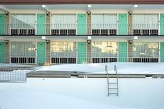 Panoramic Apartments. (stevenbley) Tags: wildwood wildwoodcrest northwildwood nj newjersey beach winter snow offseason hotel motel january shore jerseyshore midcentury panoramicapartments