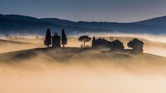 awakening (ozrot) Tags: fog autumn chapel valdorcia tuscany dove mountains