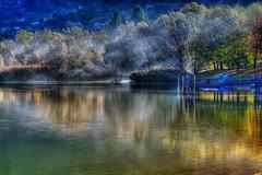 Foschia del mattino (giannipiras555) Tags: lago riflessi colori panorama paesaggio