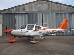 N223KB Cirrus SR22T Private (Aircaft @ Gloucestershire Airport By James) Tags: gloucestershire airport n223kb cirrus sr22t private egbj james lloyds