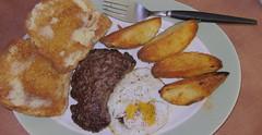 Big_B'fast-vc (Guyser1) Tags: food breakfast steakandeggs westyellowstone canonpowershots95 pointandshoot