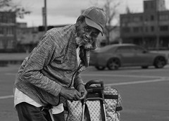 Regardless of what happens in life, always take the time to stunt. (dontaeh@rocketmail.com) Tags: happy stunt blackandwhite streetphotography life nikon 60mm smile street urban dontaeh