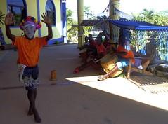 A Garifuna little dancer and drumming tune (Francesco Pesciarelli) Tags: belize flickr pesha garifuna dancer mask hopkins drums colors life big downloadable mentionmyname varied collection thoughtful colours