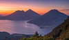 Guatemalan Landscapes (neritron) Tags: verde nikon d750 lee filter mountain sunrise amanecer volcan volcano volcanoe volcanes volcanoes vulcan vulcanos water agua lake lago guatemala atitlan chuiraxamolo color colorful colour colourful image