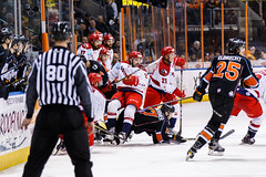 "Kansas City Mavericks vs. Allen Americans, February 24, 2018, Silverstein Eye Centers Arena, Independence, Missouri.  Photo: © John Howe / Howe Creative Photography, all rights reserved 2018 • <a style=""font-size:0.8em;"" href=""http://www.flickr.com/photos/134016632@N02/40458433802/"" target=""_blank"">View on Flickr</a>"