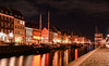 Nyhavn (andrewmclean32) Tags: denmark copenhagen weekendaway holiday night lowlight longexposure europe waterfront canal harbour harbourside port reflection lights