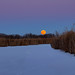 Super Moon Rising (leeandtacky) Tags: wisconsin supermoon bluehour moon landscape sony sonyalpha