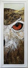 OWL VERT (daniele pennazzi) Tags: materico acrilico gufo oro tavola legno owl quadro dipinto dipinti notte fortuna scaramantico scaramanzia contrasti colore colori astratto uccello notturno rapace bianco nero dorato metallico rilievo astrattismo materia page interior new galleria