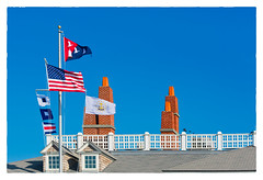Sakonnet Point CLub (Timothy Valentine) Tags: 2018 fbpost large flags rooftop 0118 datesyearss hrsw littlecompton rhodeisland unitedstates us