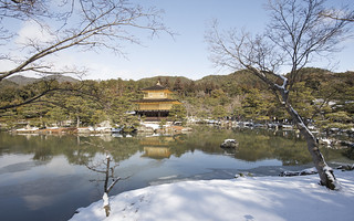 The Golden Pavillon in Winter 金閣寺
