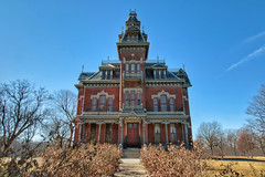Vaile Mansion (•tlc•photography•) Tags: yellow mansion haunted museum vailemansion independencemo high second empire style nrhp register historic tower mansard porch vaile mo independence missouri
