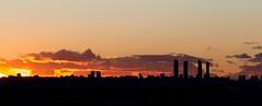 Madrid Skyline (cristianff09) Tags: skyline madrid rascacielos noche atardecer