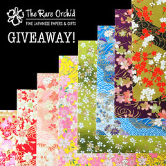 The Rare Orchid Giveaway (all things paper) Tags: washi washitape chiyogami yuzen mulberry handsilkscreened washisheets japanesepaper decorativepaper therareorchid