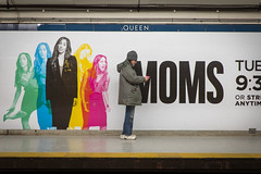 Angry Moms (cookedphotos) Tags: 2018inpictures toronto ontario canada ttc subway queen station advertisement workinmoms cbc woman yell scream streetphotography canon 5dmarkiv 365project p3652018 typography